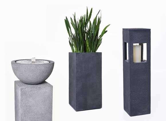 wie stein und doch viel leichter neue pflanzk bel brunnenschalen und windlichter. Black Bedroom Furniture Sets. Home Design Ideas