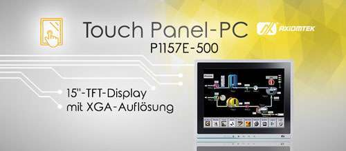 AXIOMTEKs 15-Zoll großer Touch Panel